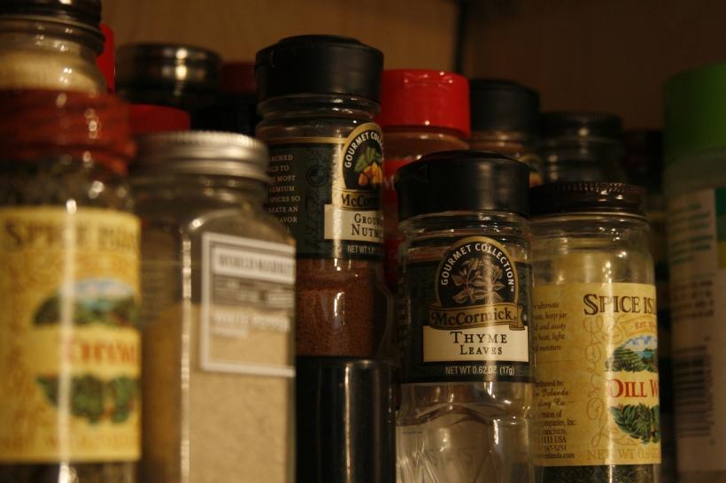 "My ""modern"" spice cabinet"